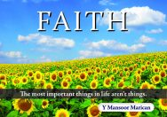 Faith: The most important things in life aren't things.