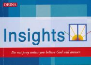 Insights: Do Not Pray Unless You Belive God Will Answer