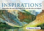 Inspirations: Remember the ones who helped you, not the ones you helped.